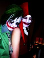 Joker n Harley cosplay. by blackangelofmine