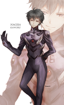 Evangelion - Shall we , Shinji-kun ? by aphin123