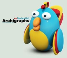 Archigraphs Parrot by Cyberella74