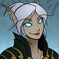 Blood elf death knight icon by cazamonster