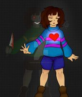 Frisk and Chara by Doodle-Me-Dead