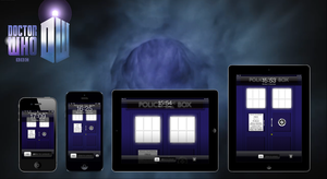 TARDIS Wallpaper - now for iPhone 5 + Retina iPads by deebeeArt
