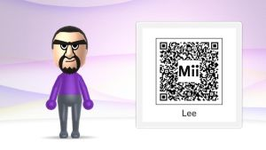 My OC, Lee as a mii with a QR code! by tangela24