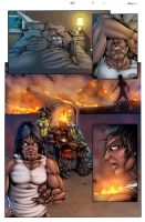 Hell's Blood #5 pg1 - test colors by ZethKeeper