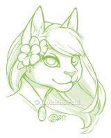 Tabitha Portrait Sketch Commission by GoldenDruid