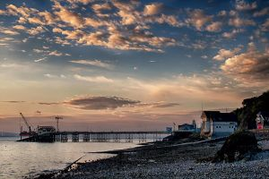 Pier from afar by CharmingPhotography