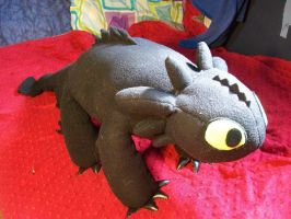 Toothless Plush WIP 2 by wolfytg