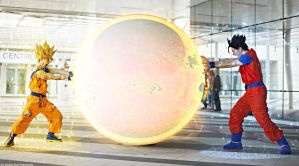 Goku Cosplay .:The power of Goku and Son:. by Alexcloudsquall
