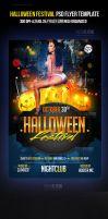 Halloween PSD Party Flyer Template by ImperialFlyers