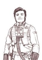 Daily Sketches Poe Dameron by fedde