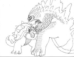 How Godzilla VS Koopzilla Should Have Ended Sketch by BurningG-HellOnEarth
