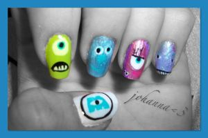 Nails: Monsters_Inc. by hiannis12