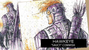 SpeedPaint: Hawkeye by RobDuenas