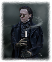 Crimson Peak Thomas Sharpe - Into the fog by LadyMintLeaf