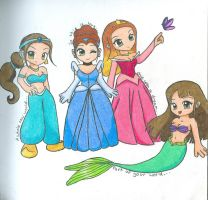 Disney Princesses by murderlesscrow