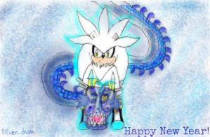 Silver and my dragon -- Happy New Year! by Silver-chan2000