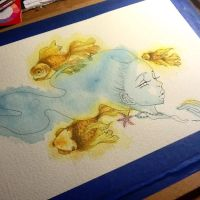 Goldfish dreams -WIP by Odette-1218