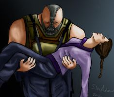 Bane and Talia by silver-autumn