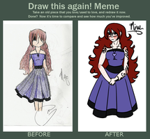 Before and After: Minae by WiltingDaisy