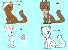 Christmas Adoptables-Batch 1 by xXPastelWishesXx