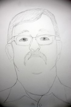Portrait Project 5/16: Father WIP by Sabhira