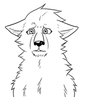 Free Sad Wolf lineart by The-Crow-Faced-Wolf