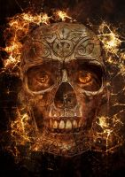 Fire Skull by CecileVCreation
