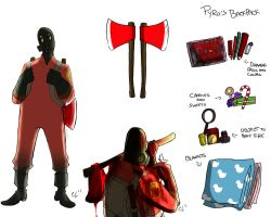 TF2-  Forsaken : Pyro studies . by camiluna27