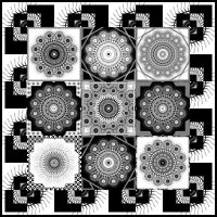 Simple BW quilt by Aspartam