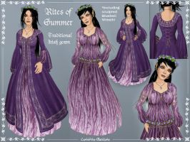 Rites of Summer Celtic Gown by Elvina-Ewing