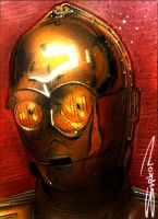 C3PO Sketch Card by RandySiplon