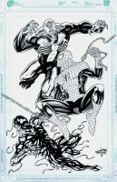 Spidey, Vernom and Carnage by wardogs101