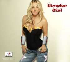 Kaley Cuoco as Wonder Girl by TheSnowman10