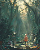 Through the forest by ThroughSpaceAndTime