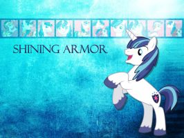 Shining Armor Wallpaper by phasingirl