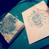 stamp for business card for Otakuthon ... by hubie-the-cat