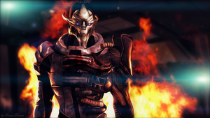 Mass effect Saren by Demon551