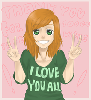Thanks for 10 000 pagevievs ! by Yoko-Touko