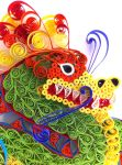 Quilled Dragon of Good Fortune - Face by SpiralArtisan