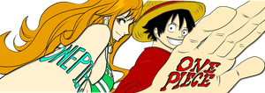luffy and nami by Bleach-Fairy