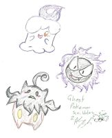 Ghost Pokemon Scribbles 2 by Kittychan2005