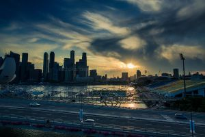 Singaporean Sunset by n-a-k-s