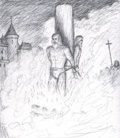 Burning of Jacques de Molay by dashinvaine