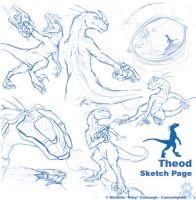 Theod- Sketch Page by CanineHybrid