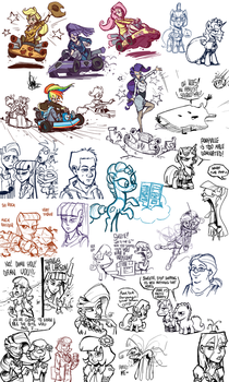 Livestream sketch dump #10 by TheArtrix