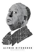 Alfred Hitchcock Typographical Portrait by UltraShiva