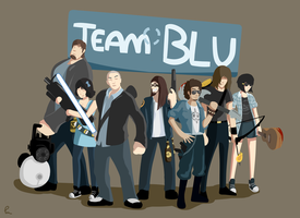 Team BLU by KinkySkull