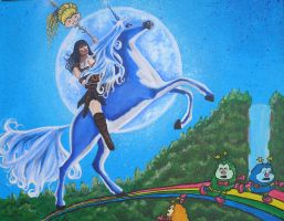 Xena invades Rainbowland by RedRowanDesigns
