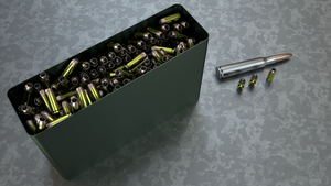 Ammo bin with 540 10x25mm cartridges by EverlastingAbyss