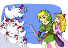 Link Vs Chicken by SNathy